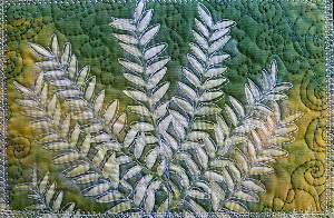 Fabric Postcard from Sue Reno