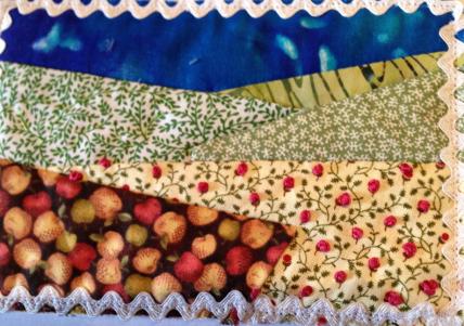 Fabric Postcard 1