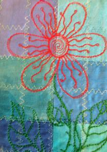 Fabric Postcard 31