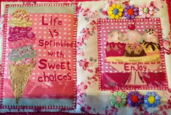 Fabric Postcard 4