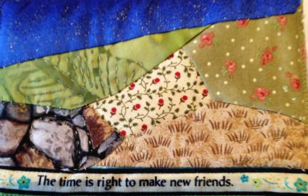 Fabric Postcard 5