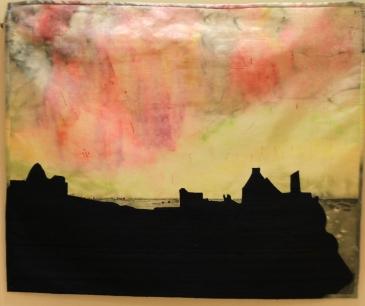 Janet Kirkwood 'Dawn at Dunluce Castle, Co Antrim